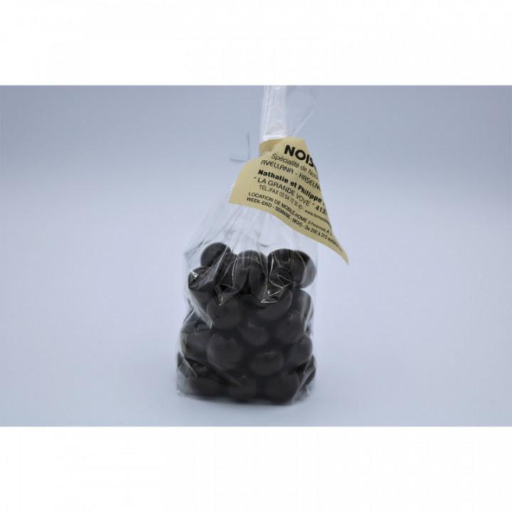 Noisetines (noisettes enrobées chocolat noir)