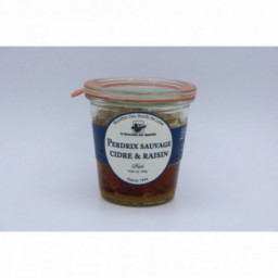 Pâté de perdrix sauvage, cidre et raisin, 200g
