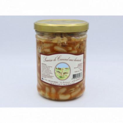 Saucisses canard haricots,...