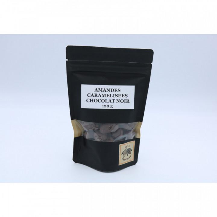 Amandes enrobées de chocolat noir