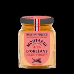 Moutarde d'Orléans au Piment d'Espelette 200gr
