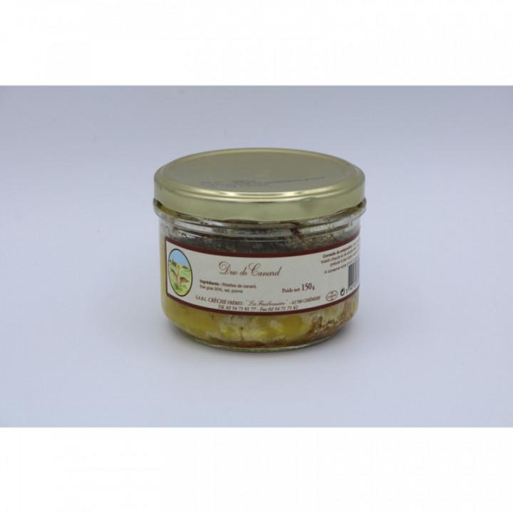 Duo de canard (rillette/foie gras), 150g